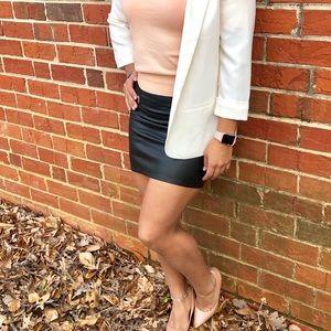 DIVIDED mini Leather Skirt